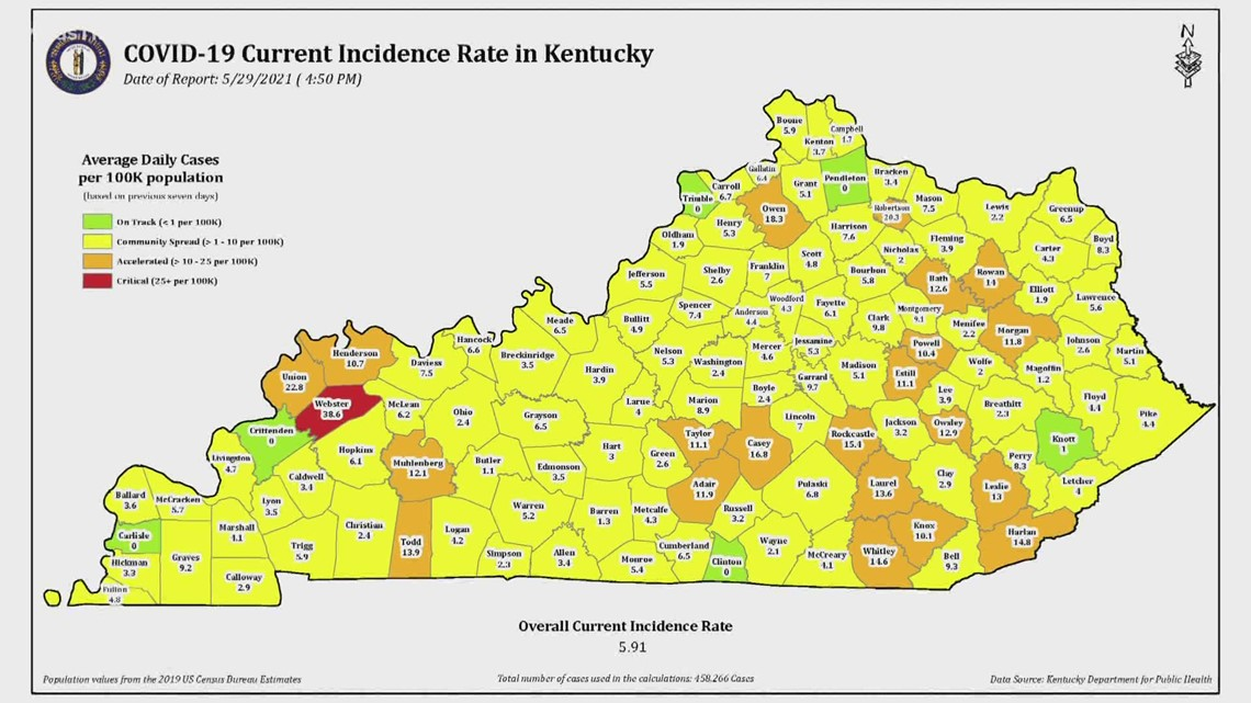 Louisville-area entering the COVID-19 yellow zone for first time since July 2020