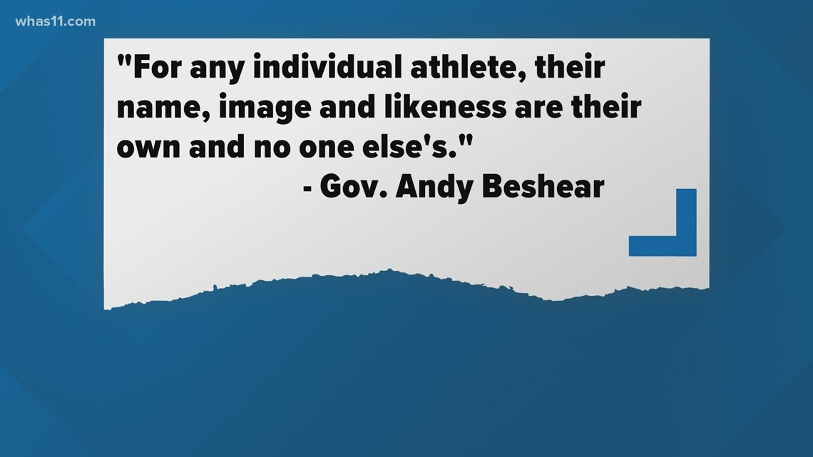 Kentucky Gov. signs executive order allowing college athletes to profit from name, image, likeness