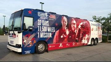 'This is service before self' | Veterans, first responders 'Carry the Load' across America