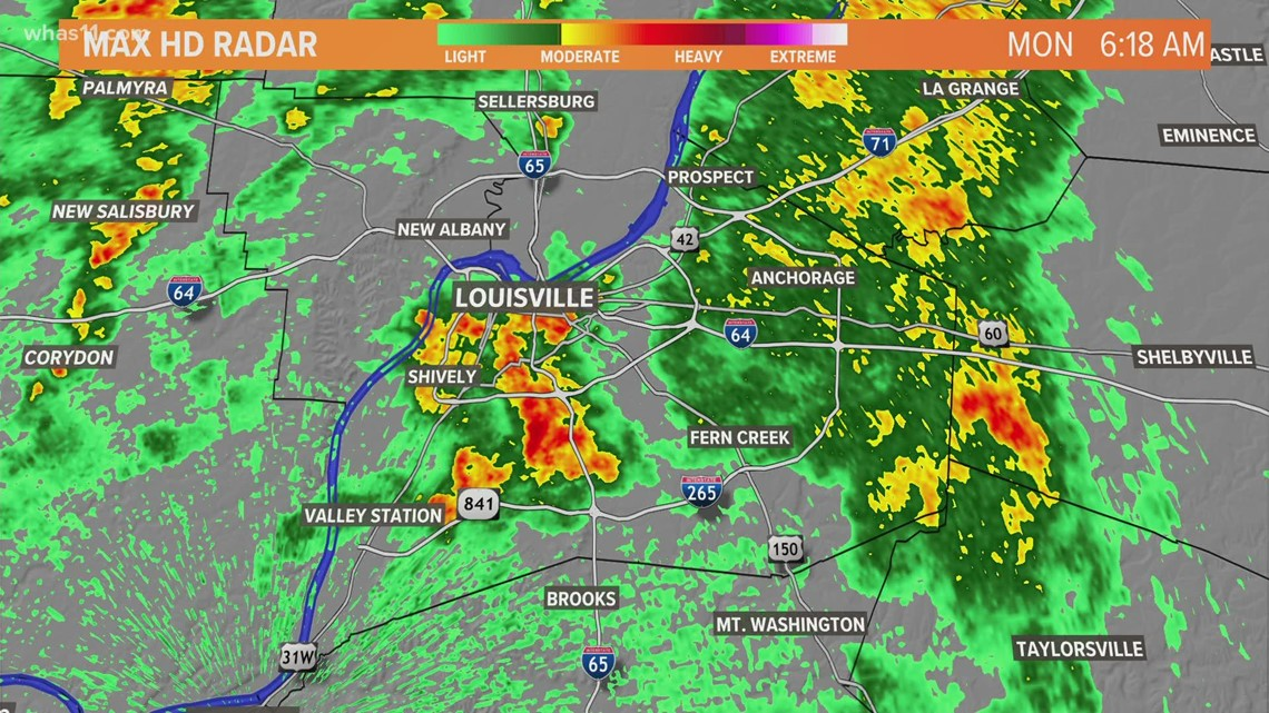 Morning showers give way to cooler temperatures