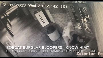 Police share surveillance video of Ohio burglar's bloopers
