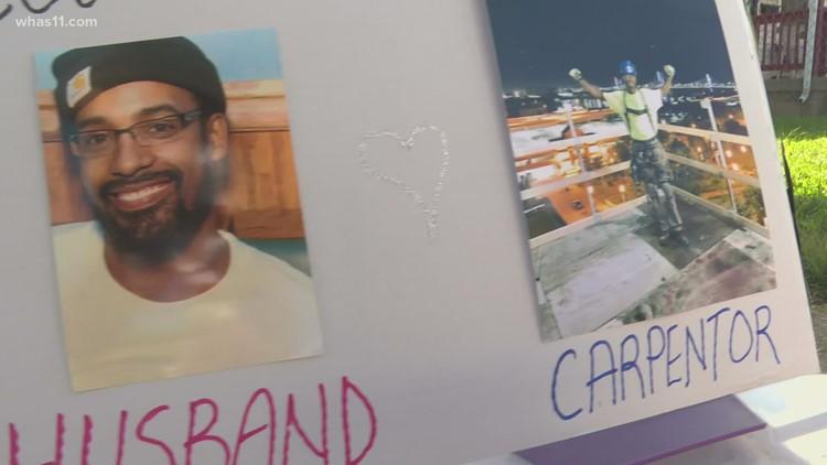 Widow, volunteers honor Louisville father, husband with repair projects in Portland neighborhood