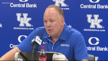 UK Football Coach Stoops addresses decision on alcohol sales