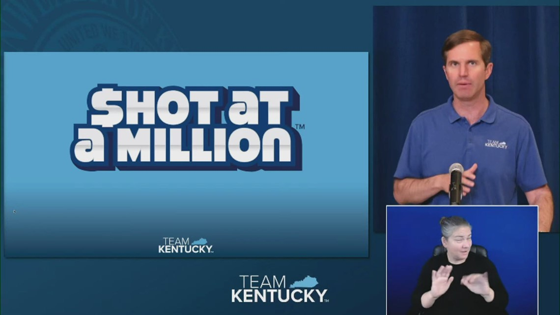 Sign up! 'Shot at a Million' COVID-19 vaccine lottery launches in Kentucky