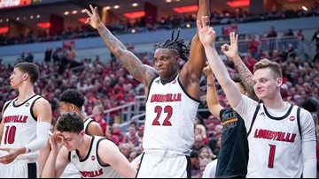No. 5 Louisville Tops Virginia 80-73 For 10th Straight Win