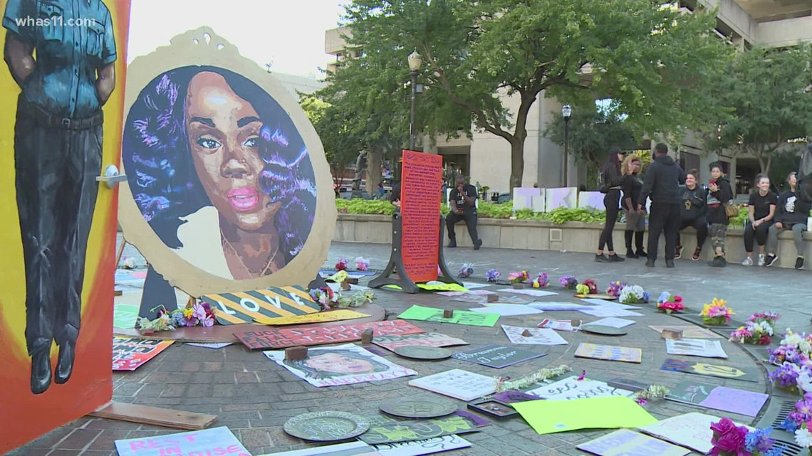 Breonna Taylor case   Community members rally one year after grand jury decision