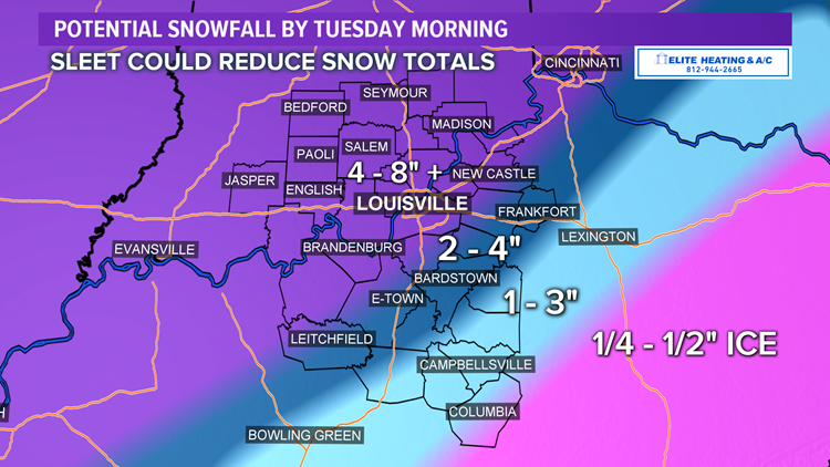 Winter storm currently bringing heavy snow, sleet to Ohio Valley