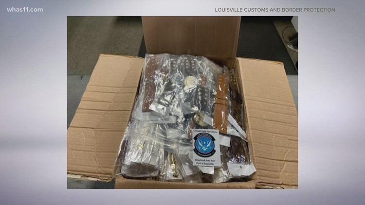 Counterfeit jewelry valued at $675K seized by Louisville Custom & Border Patrol