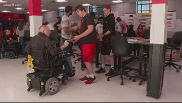 Teens designing tools to help disabled