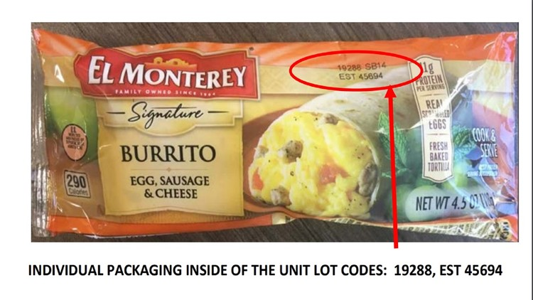 El Monterey burrito recalled