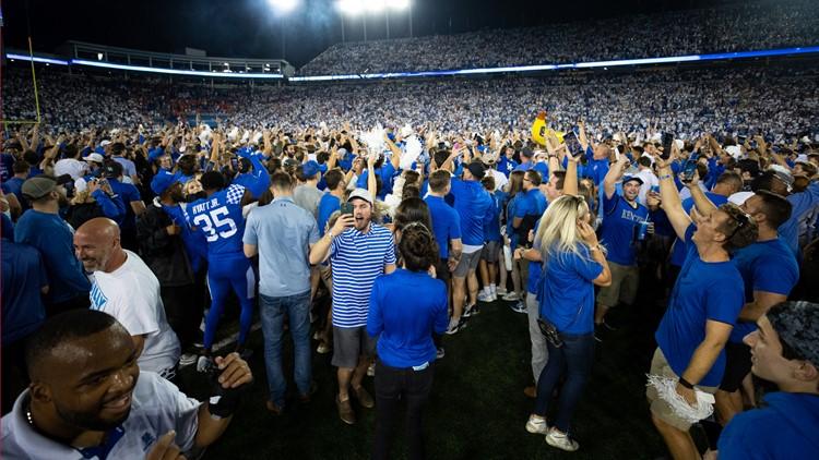 SEC fines Kentucky $250,000 for fans rushing Kroger Field after Wildcats beat Florida