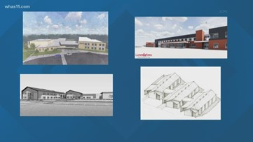 Preliminary renderings of new JCPS schools