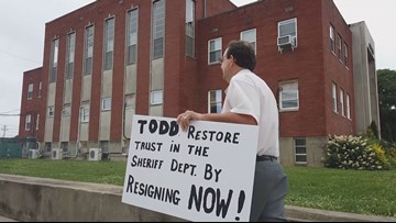 Community says they will protest until Breckinridge County Sheriff Pate resigns