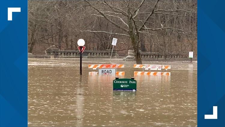 Heavy rain brings some flooding to some neighborhoods, roadways across Louisville