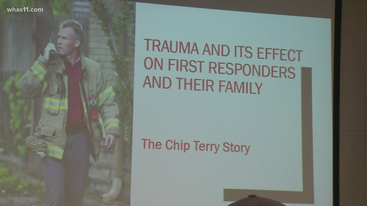 After husband's suicide, firefighter's widow talks mental health with first responders