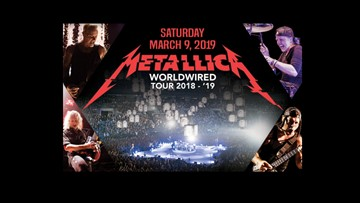 Heavy metal band Metallica will rock the KFC Yum! Center in March