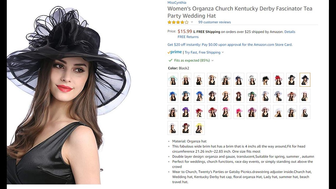 fc67724d3c Get into this super cute traditional black hat that will be seen worn by  many at the Kentucky Derby!