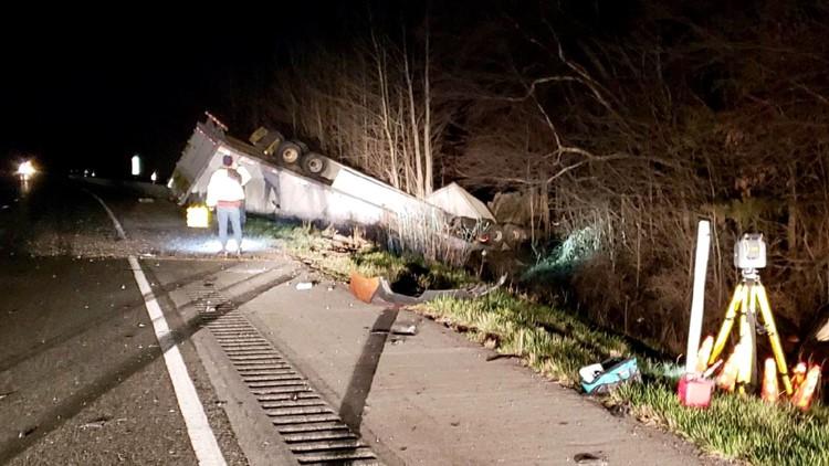 Crews opening up some lanes of I-65N after injury crash