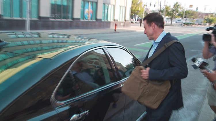 Rick Pitino Leaving Louisville Federal Courthouse