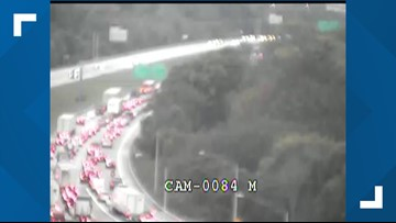 2 JCPS students being treated after multiple accidents back up I-265 near I-65