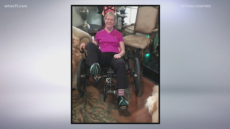 After bad bike accident, mom learns to walk again in time for son's wedding