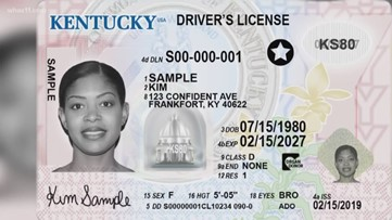 REAL IDs are available at these locations in Kentucky