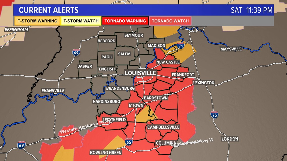 All watches warning canceled in WHAS11 News viewing area