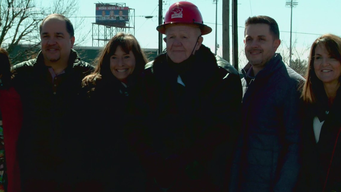 Denny Crum helps break ground on new UofL dorm named after him