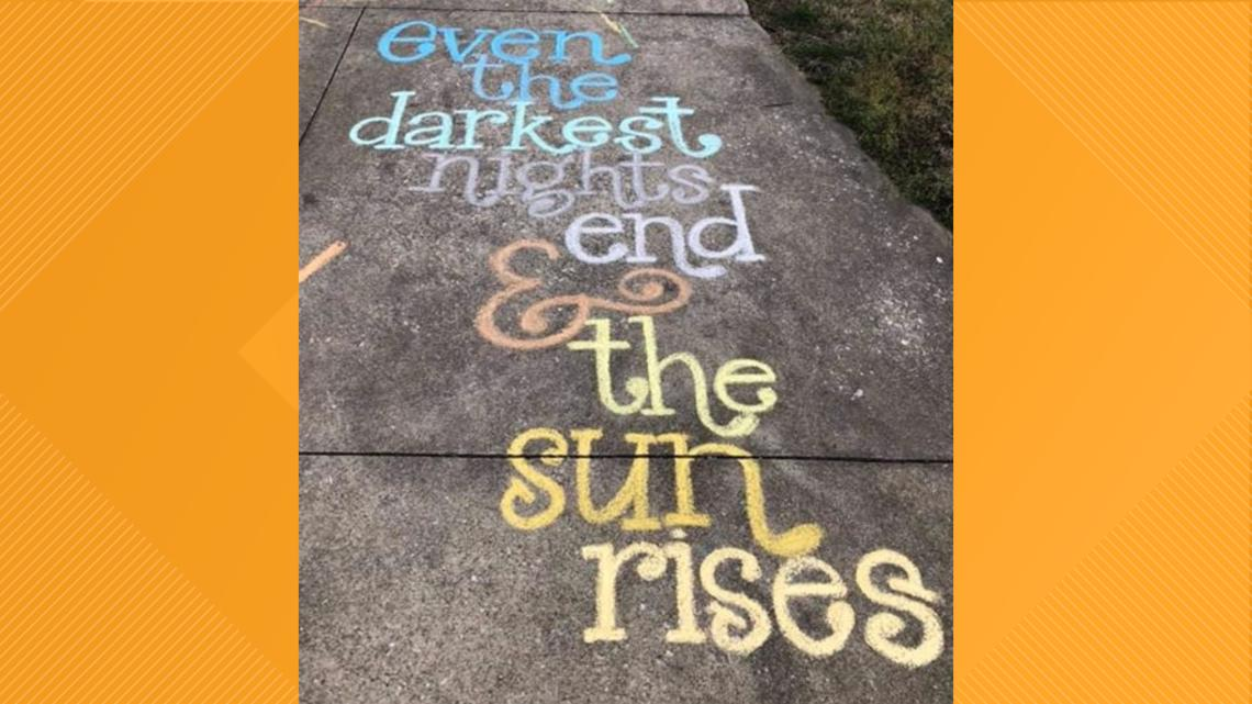 PHOTOS | Sidewalk Art: Spreading messages of hope, lifting spirits during COVID-19 pandemic