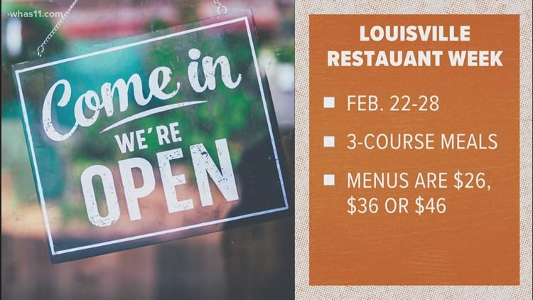 Louisville Restaurant week begins Monday