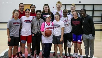 Cancer patient gets longtime  wish to play with UofL women's team