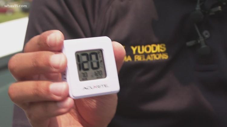 First responder demonstration shows dangers of hot car