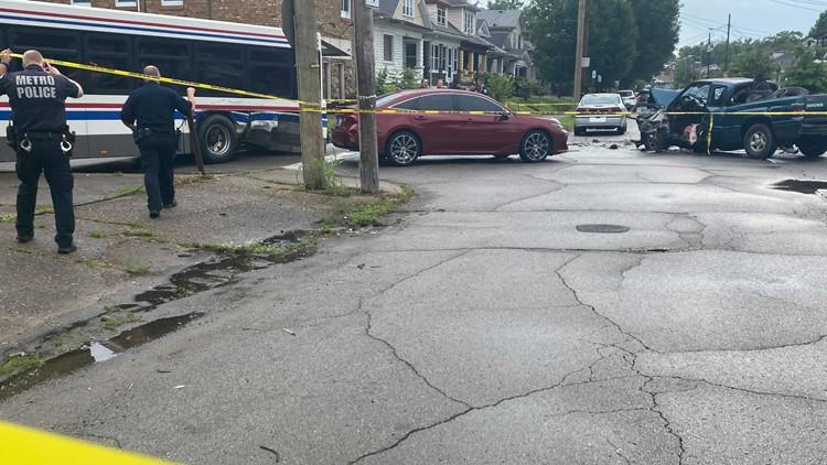 Victim identified in deadly three-car crash involving TARC bus in Park Hill