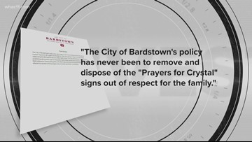 Rogers' signs dumped behind City Hall in Bardstown