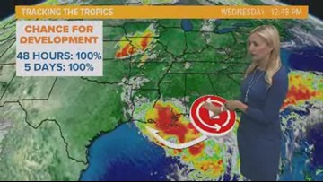 Tracking possible tropical cyclone in Gulf Coast