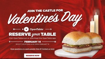 Reservations now open for Valentine's Day dinner at White Castle