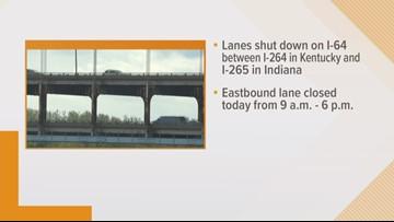 Lane closures happening on Sherman Minton Bridge Wednesday