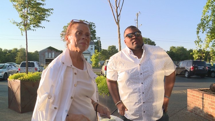 "JUNE 3, 2018; Lonnie Ali speaks with WHAS-TV shortly after an ""I Am Ali Festival"" event held at Le Moo."
