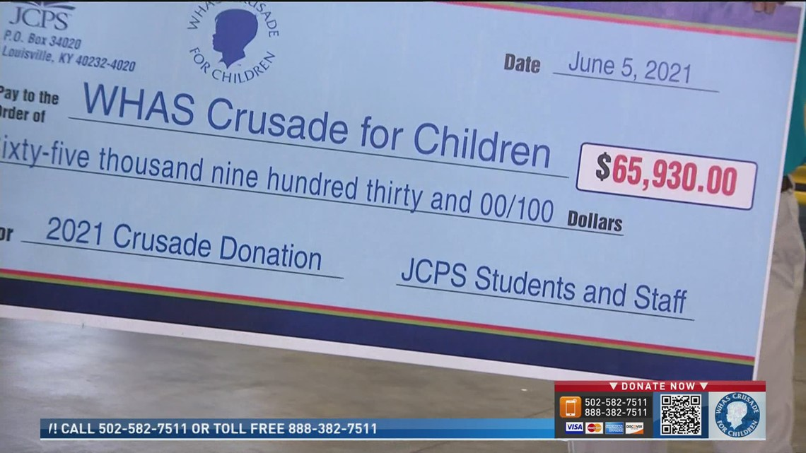 JCPS students and staff donate more then $65K to Crusade for Children