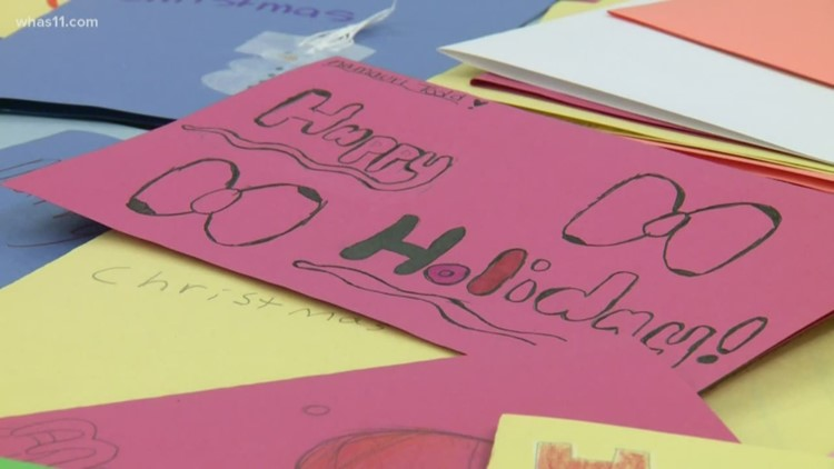JCPS students create holiday cards for elderly