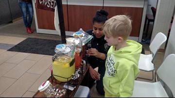 Boy raises money in honor of fallen officer with lemonade stand