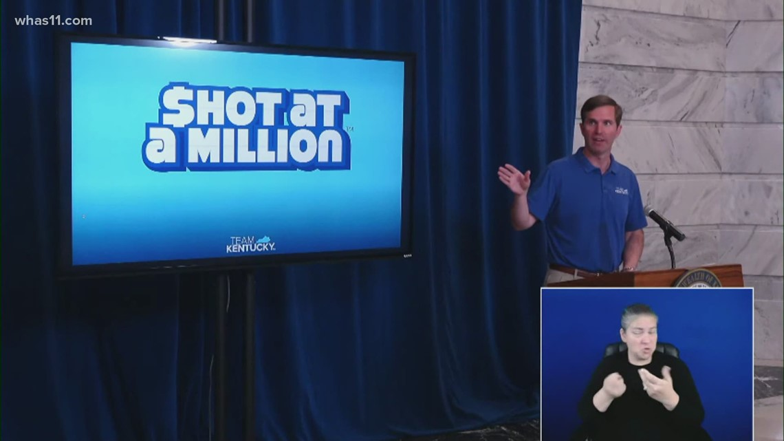 Kentuckians have a 'Shot at a Million' in COVID-19 vaccine lottery