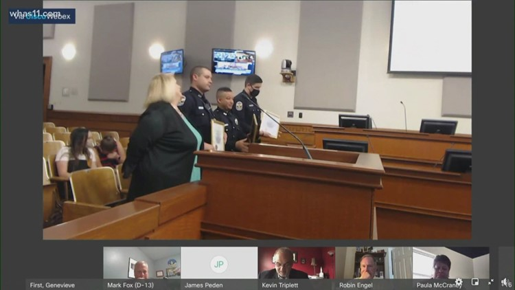 3 Louisville officers recognized for heroism