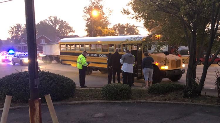 school bus jcps pedestrian struck cane run road