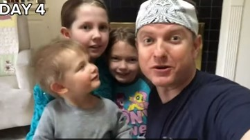 Watch: Sports with the Spencers | Kent goes 1 on 3 with his kiddos: No school, no daycare, no problem!