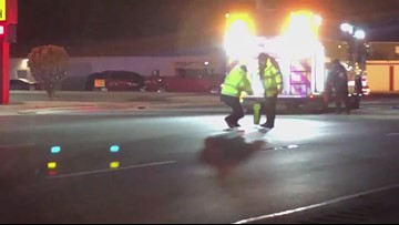 Police cleaning up scene at fatal crash on Dixie Highway