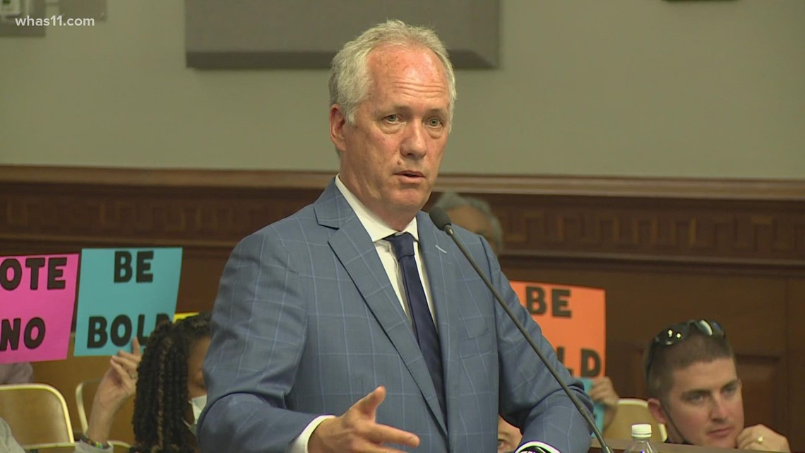 Mayor Fischer makes rare appearance at Metro Council to discuss public safety