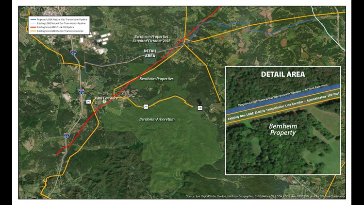 LG&E proposed natural gas pipeline