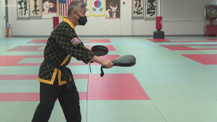 Grandmaster Jung Oh Hwang teaches his students respect and discipline