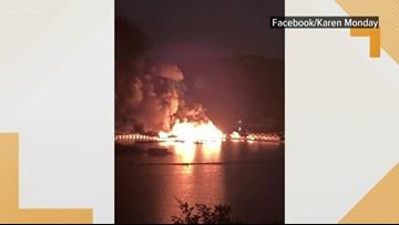 Fire damages Conley Bottom Resort